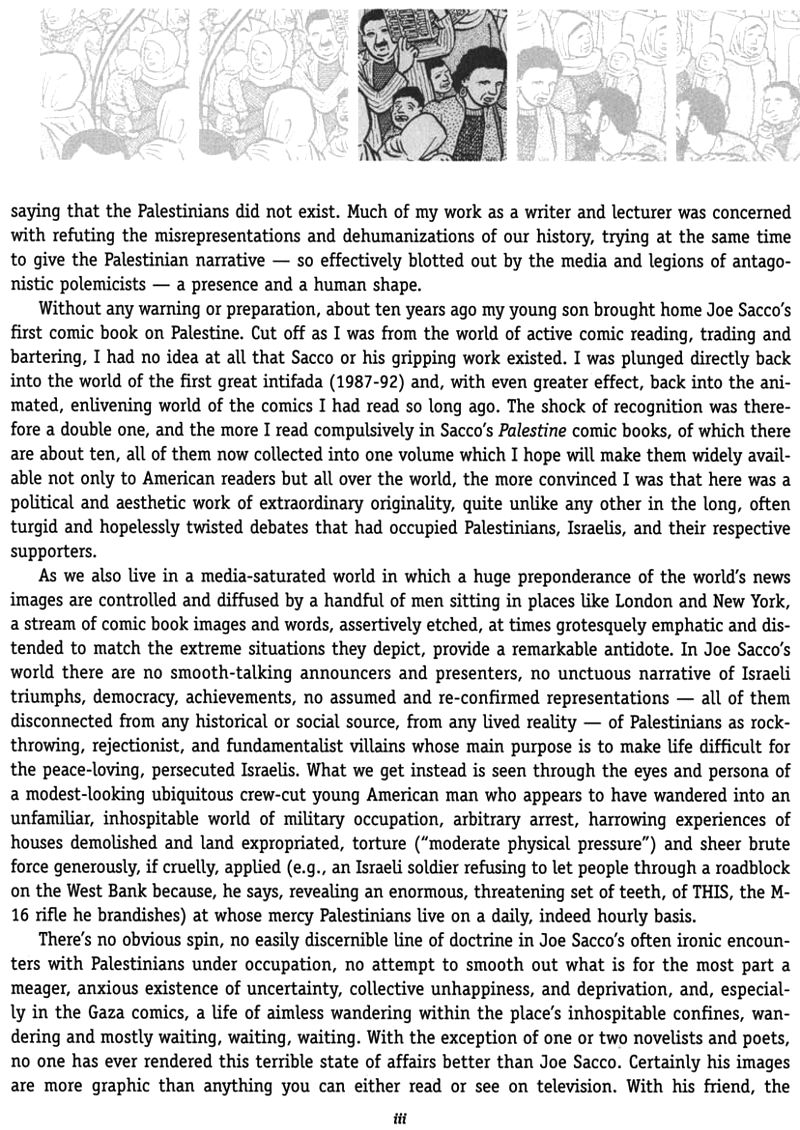 Read introduction 3 of Joe Sacco - Palestine online