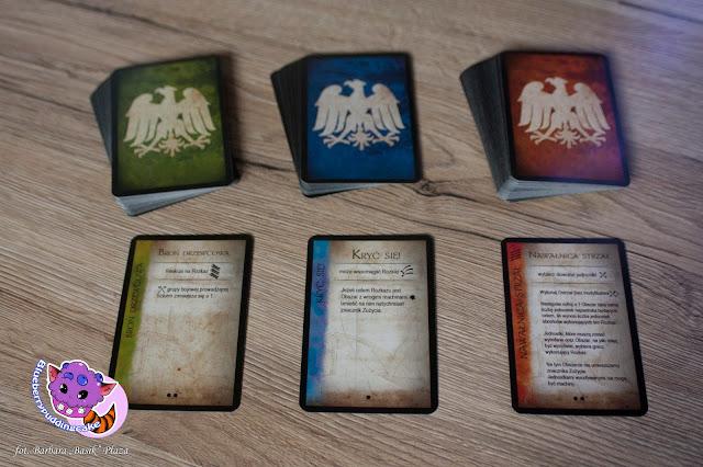 Kart odpowiadają za wiele rzeczy w grze planszowej, między innymi za rozkazy