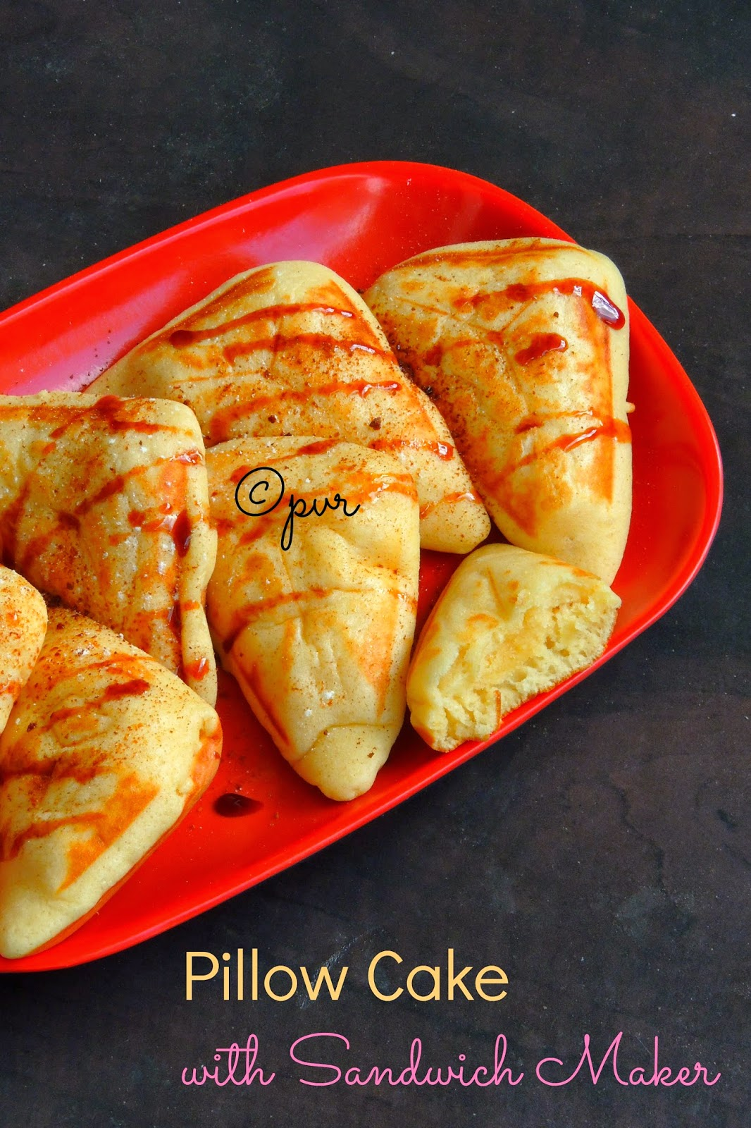 Priya S Versatile Recipes Pillow Cake With Sandwich Maker