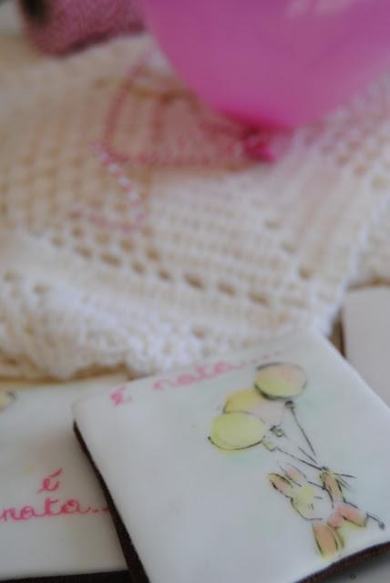 biscotti dipinti per una nascita