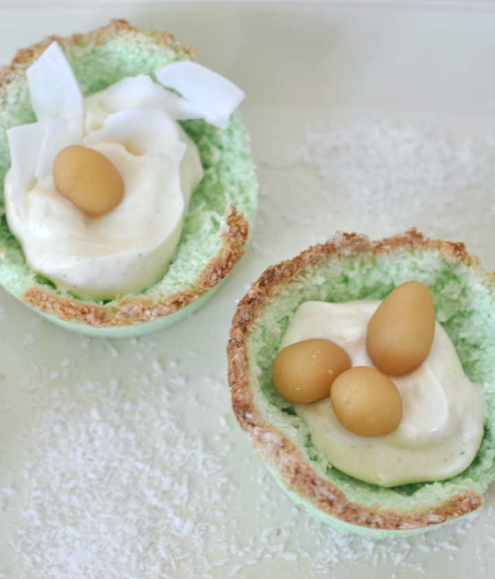 darling Coconut Easter Baskets, glutenfree and done in just a few minutes