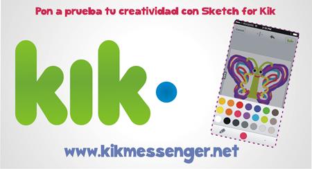 Pon a prueba tu creatividad con Sketch for Kik