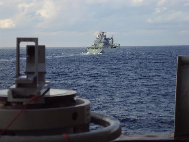 Φρεγάτα ΚΟΥΝΤΟΥΡΙΩΤΗΣ: Κοινή άσκηση στις Κυκλάδες με το Γερμανικό Ναυτικό - ΦΩΤΟ