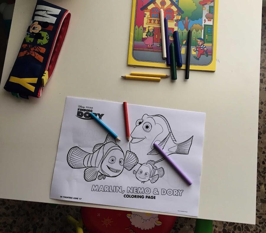 Imprimibles para colorear buscando a Dory