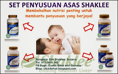 Set Penyusuan Asas Shaklee dapat membantu para ibu mengatasi masalah kurang susu badan