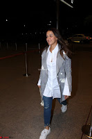 Neha Dhupia in Shirt Denim Spotted at Airport IMG 3537.JPG