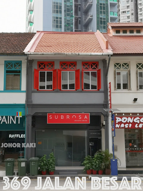 Subrosa Fine Private Dining @ 369 Jalan Besar in Singapore