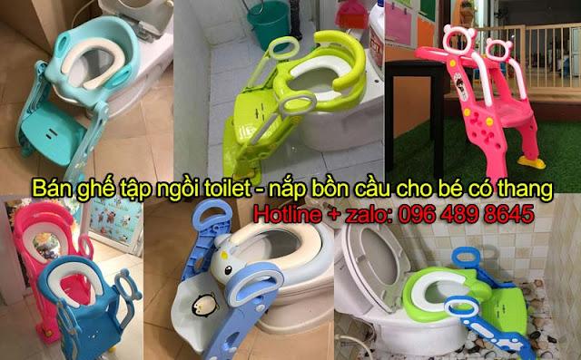 Bán nắp bồn cầu - ghế ngồi toilet - thang tập đi toilet trẻ em giá rẻ