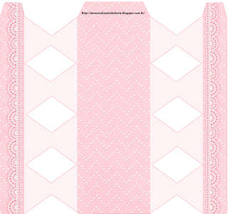 Cajas de Encaje Rosa para imprimir gratis.