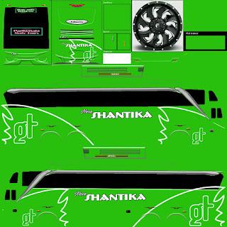 Download Livery Bus Shantika Hijau