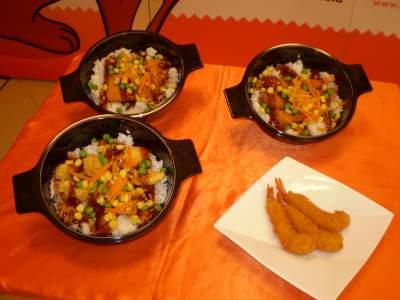 Asian mix bowl ala a w makan makan indonesia for Aja asian cuisine menu
