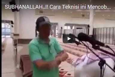 Cara Teknisi ini Mencoba Mic Di Masjid, Bikin Jamaah Masjid Terkagum-kagum