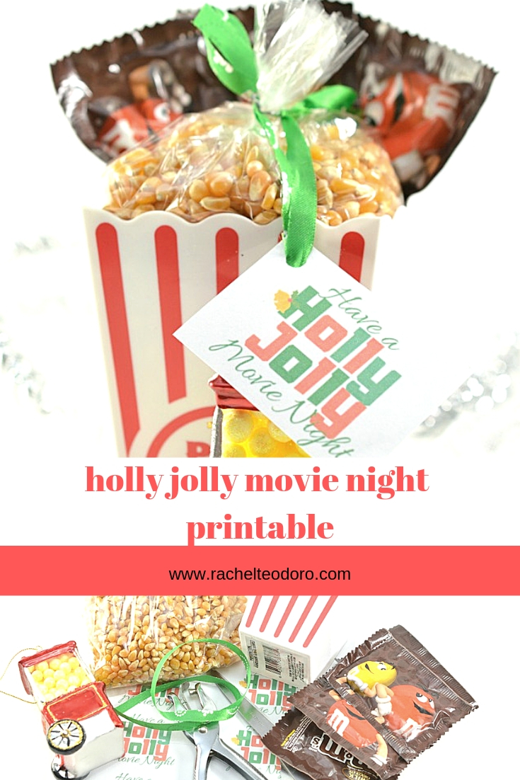 movie night and popcorn gift supplies