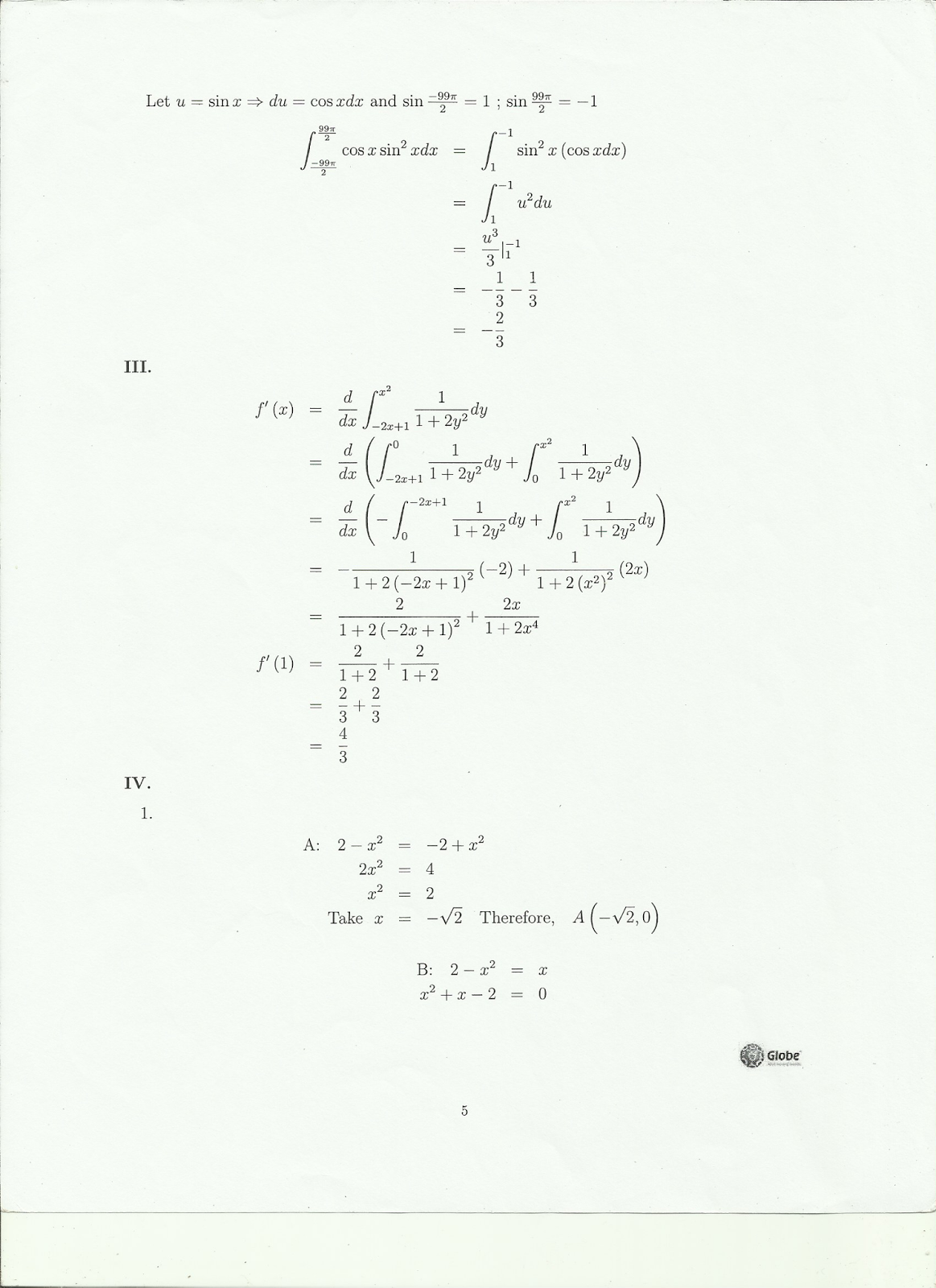 UPD Samplexes, Readings, and Materials: UPD Math 53 Fourth