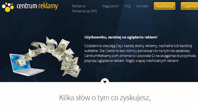 Centrum Reklamy — największe stawki wśród polskich programów GPTR, opinie, opis