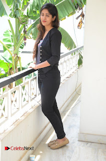 Actress Chandini Chowdary Pictures in Black Jeans at Interview  0255.JPG