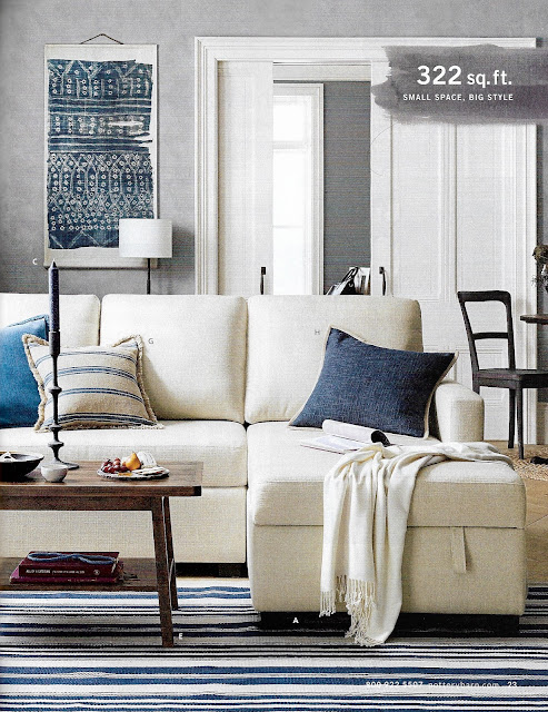 Blue contemporary decor Pottery Barn