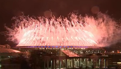 Rio 2016 Closing Ceremony fireworks
