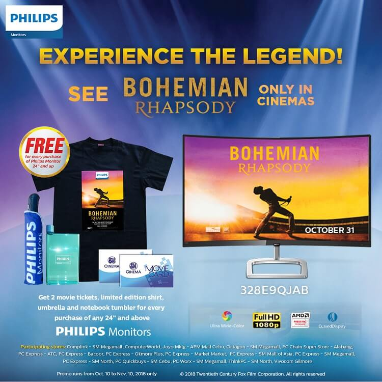 Philips Monitors, 20th Century Fox Extend Bohemian Rhapsody Promo