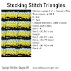 Stocking Stitch Triangles Knitting Stitch