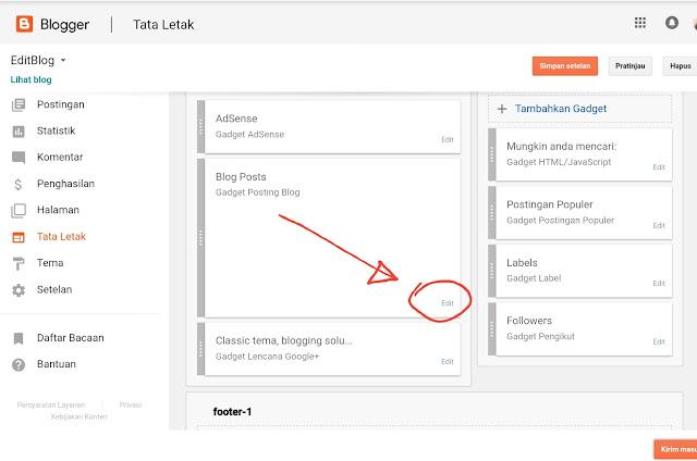 langkah pertama edit blog post