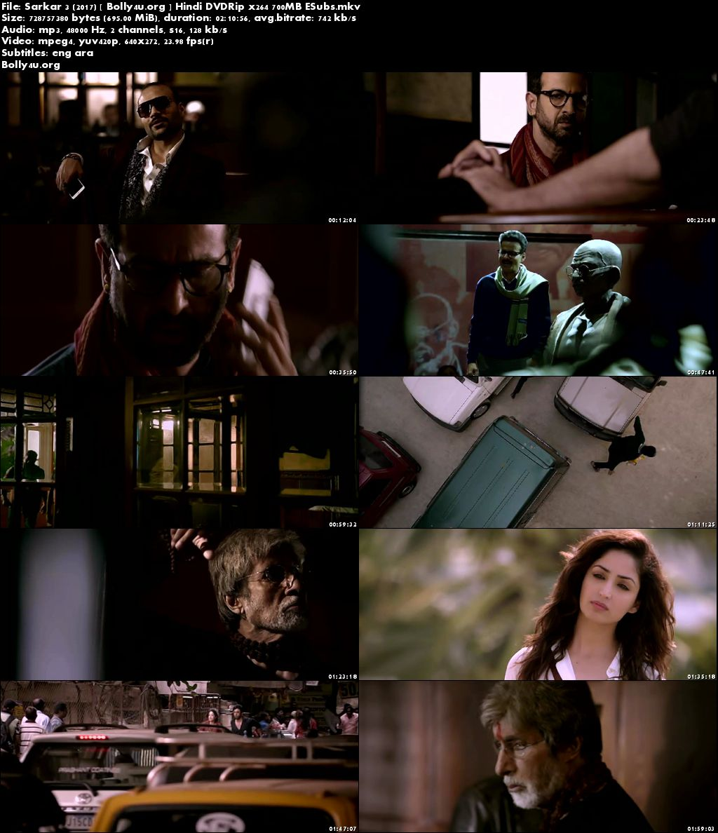 Sarkar 3 2017 DVDRip 350Mb Full Hindi Movie Download 480p