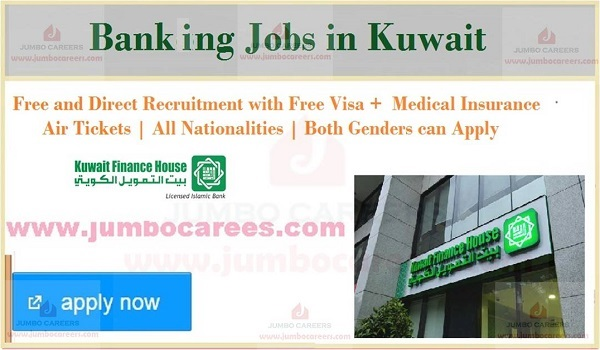 Current bank jobs in Kuwait, Salary details of latest Kuwait bank jobs,