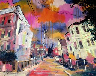 Multimedia Painting, Hadley Street by Adam O'Day