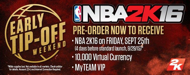 Pre-order NBA 2k16 Now!