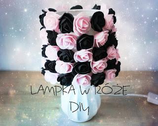 Lampka w róże DIY