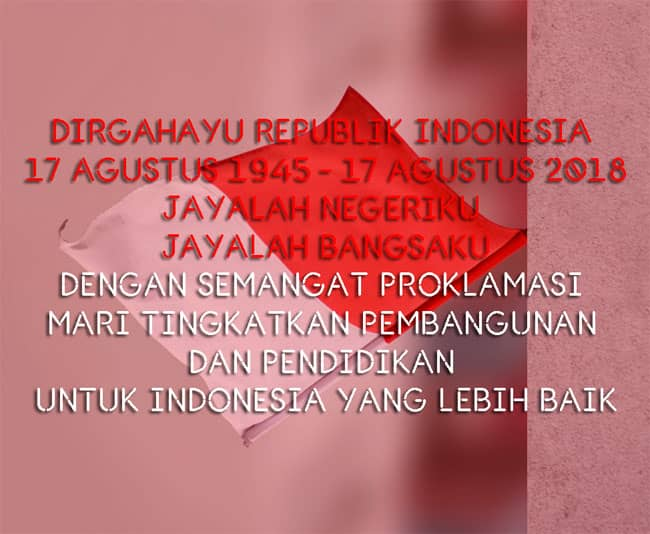 ucapan hut dirgahayu indonesia 73