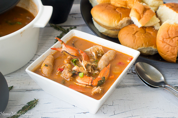 this soup is the perfect supper for a hungry crowd Caribbean Area Seafood Soup