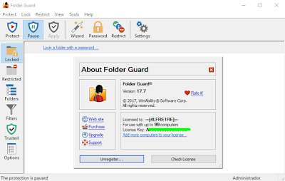 Screenshot Folder Guard 17.7.0.2390 Full Version