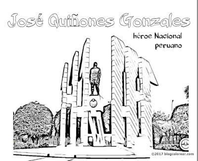 colorear monumento a José Quiñones