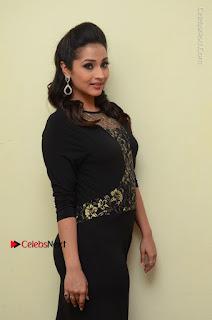 Telugu Actress Manasa Manohar Stills in Black Long Dress at Naku Nene Thopu Turumu Trailer Launch  0042.JPG