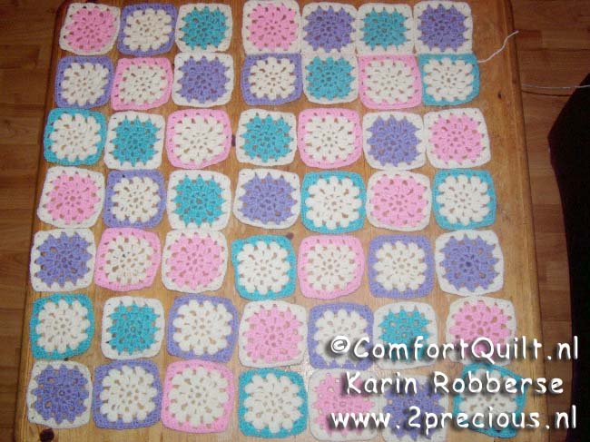 Web Log Karin Robberse Tutorial Comfort Quilt Granny Square
