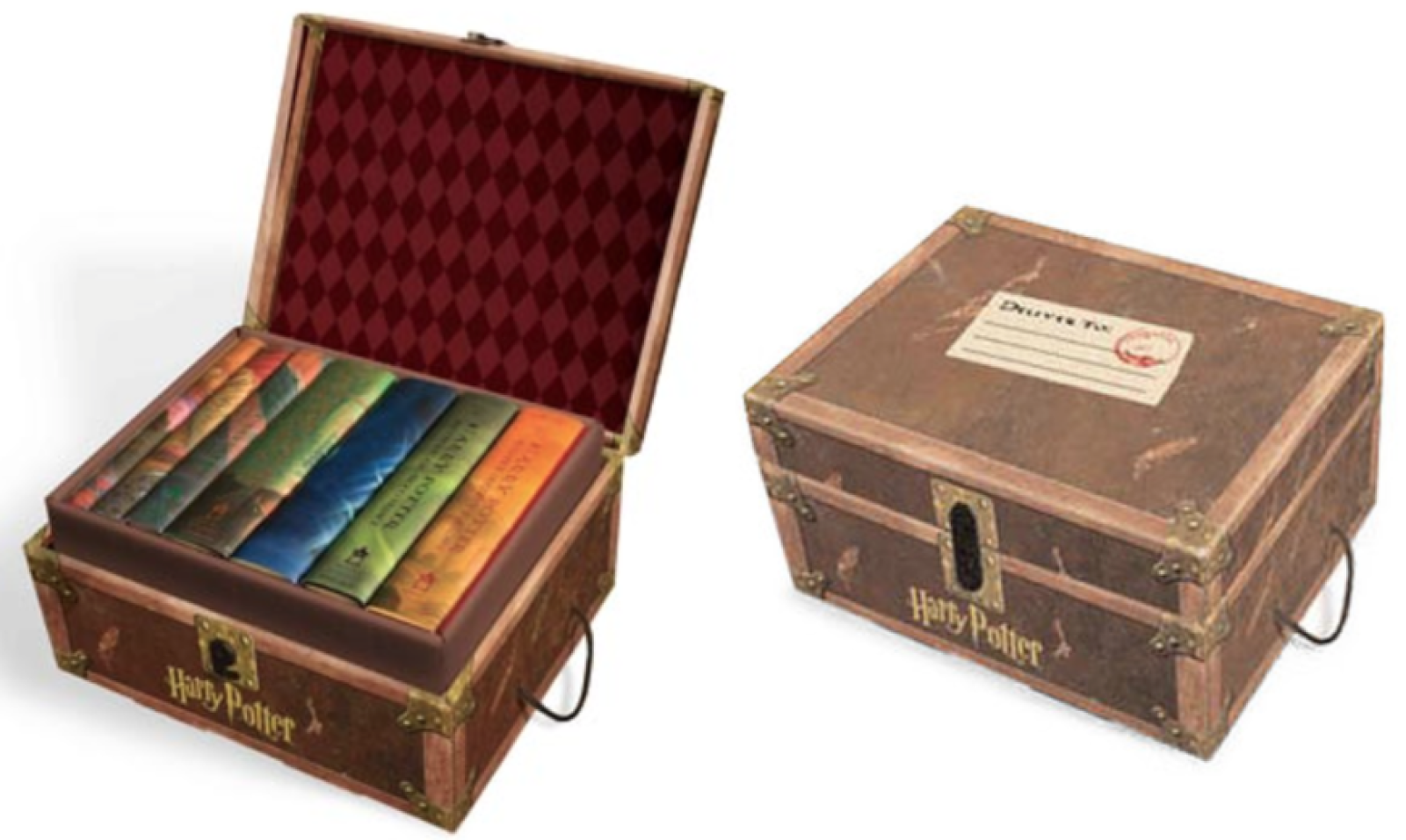 Walmart.com:  Harry Potter Hard Cover Boxed Set (books 1-7) in Limited Edition Trunk Box = $90 + FREE Shipping! Regularly $195!