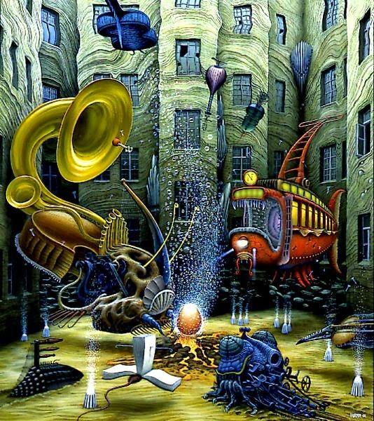 A Vida Nasce - Jacek Yerka e seu surrealismo fantástico ~ Polonês