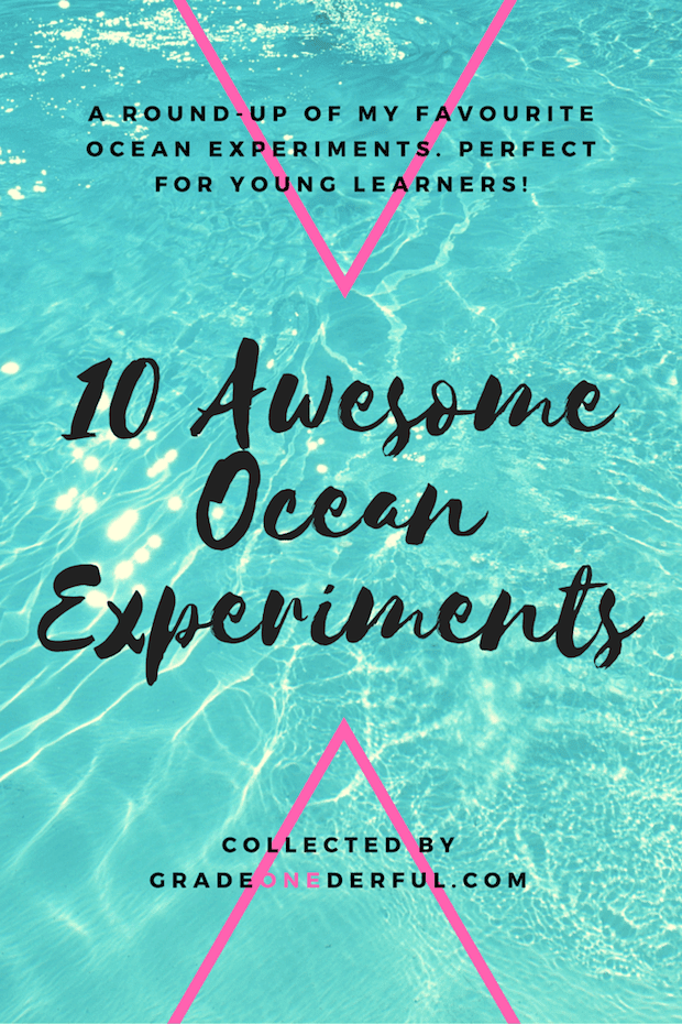 10 Awesome Ocean Experiments for young learners. GradeONEderful.com