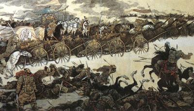 Representación de la batalla de Changping