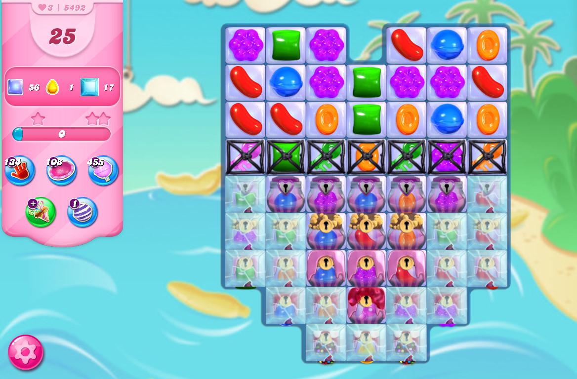 Candy Crush Saga level 5492