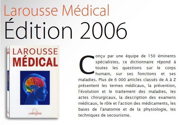 dictionnaire medicale larousse gratuit