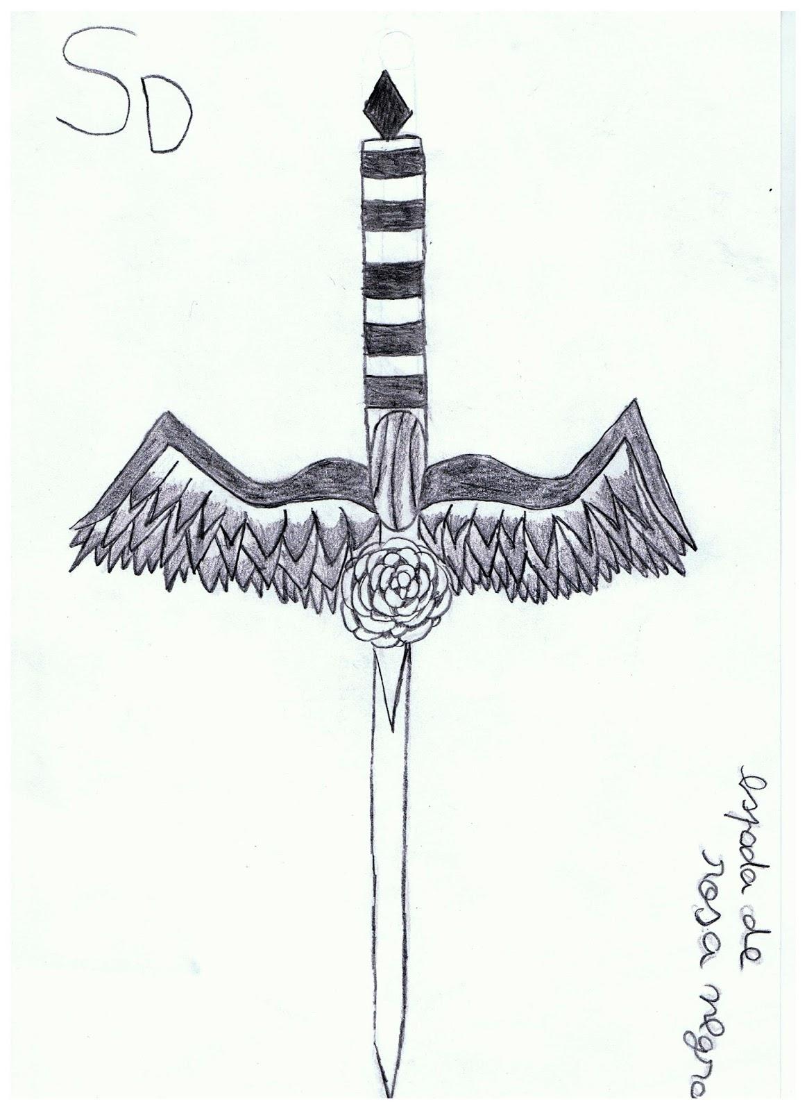 Sofia Desenho Espada Rosa Negra