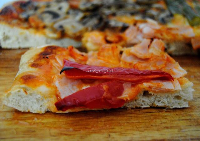 Pizza Cuatro estaciones (Pizza quattro stagioni)