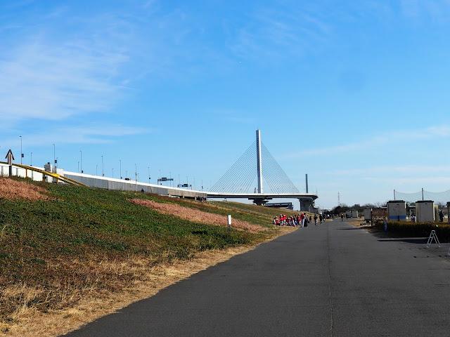 荒川自転車道 かつしかハープ橋