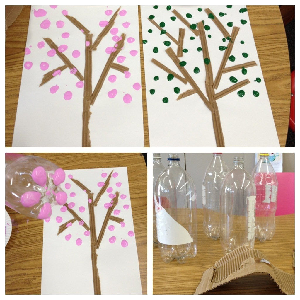 Tree Art Crafts New Year Craft Ideas For Kindergarten