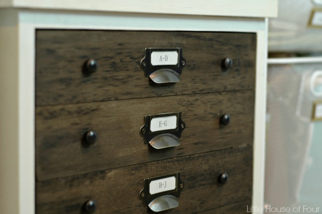 Turn an ordinary file cabinet into a faux specimen cabinet