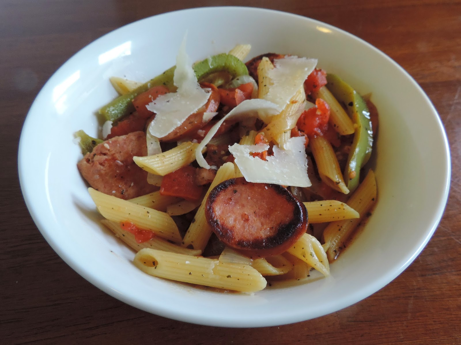 Sausage and Pepper Skillet Saute