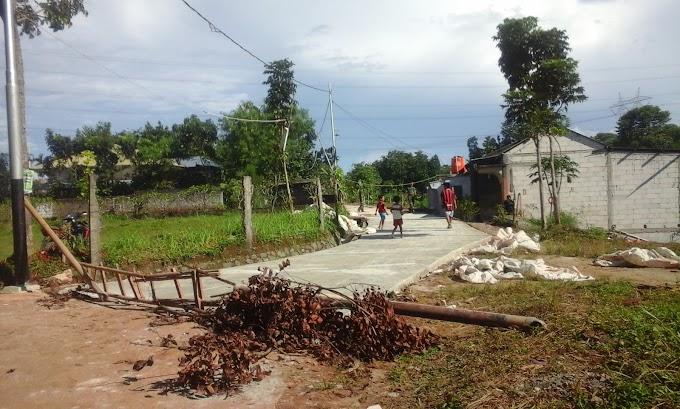 Betonisasi Jalan Kopo Sudah mencapai 250 meter
