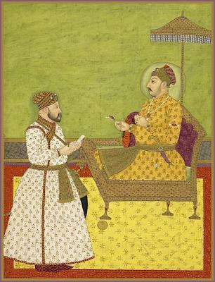 Muḥammad Shah and his minister Itimad al-Daula Qamar al-Din Khan